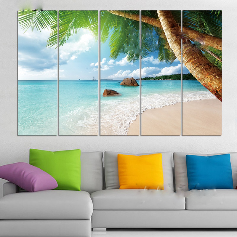 Canvas Beach Wall Art Painting Picture