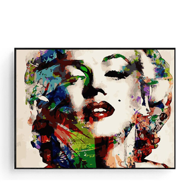 Marilyn Monroe Oil Painting On Canvas Abstract Sexy Poster Hand