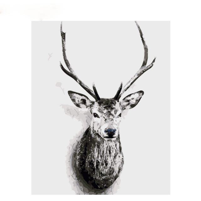 Frame Painting By Numbers Deer Animals Nordic Style Wall Art Canvas Hand Unique 40×50