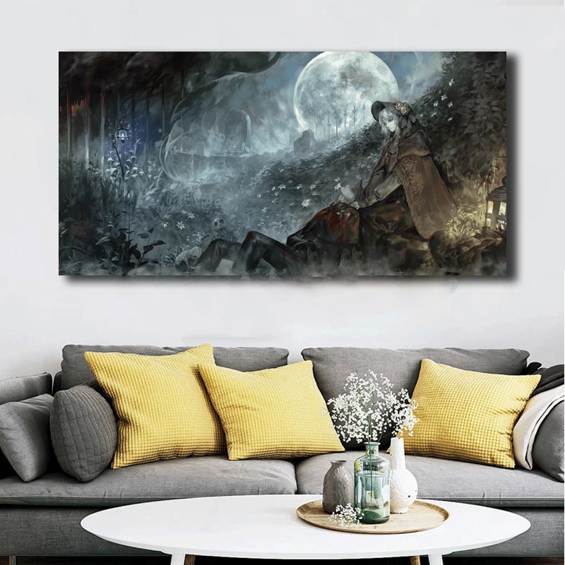 Plain Doll Bloodborne Hd Wallpapers Canvas Painting Print Living Room Home Modern Wall Art Oil Poster Artwork