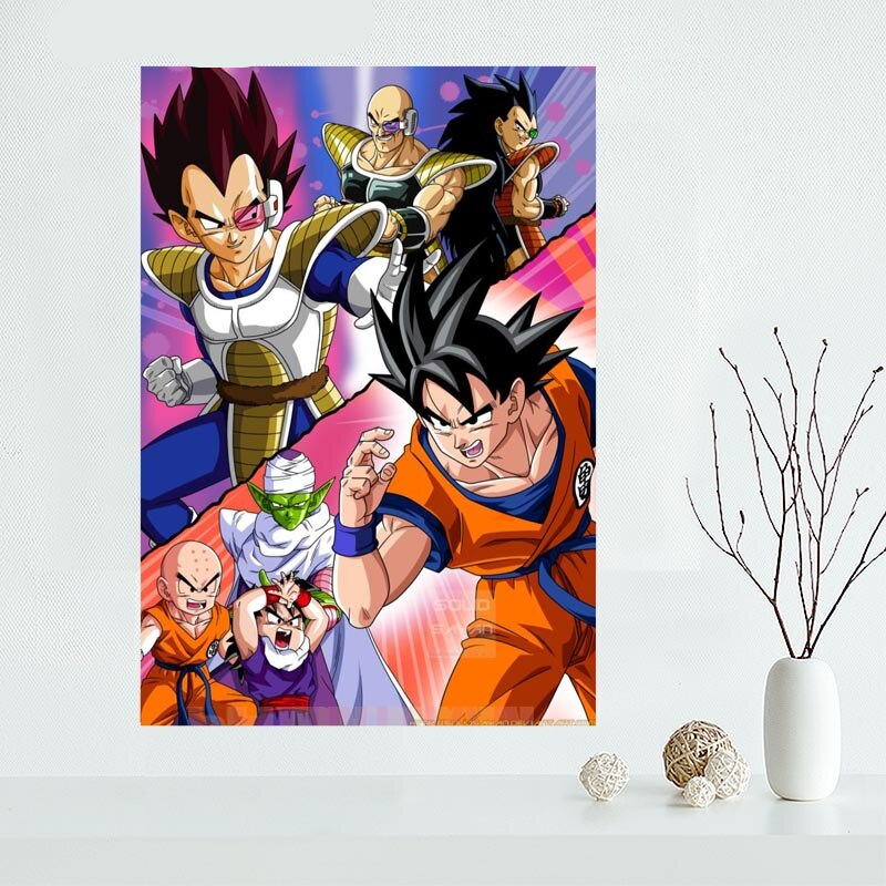 Nice Custom Goku Dragon Ball Z Canvas Poster Print Painting Art Wall Silk Cloth Fabric 27x40cm30x45cm