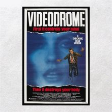 Poster Fantasythriller Film Videodrome James Woods Wall Fabric Art Prints Old Picture