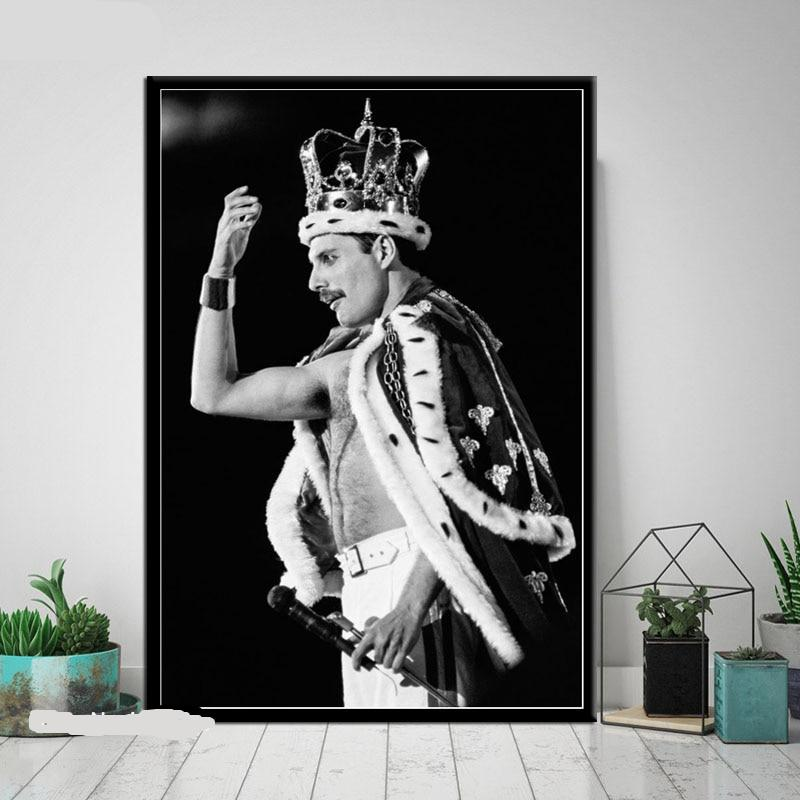 Queen Freddie Art Poster Bohemian Rhapsody Posters And Prints Wall Picture Canvas Painting Room Home Decoration