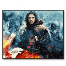 Game Thrones Painting By Numbers Framed Picture Oil Wall Paint Number Kits Jon Snow