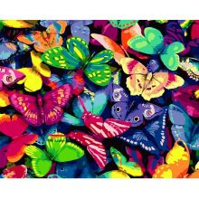Ruopoty Frame Butterfly Painting By Numbers Kits Modern Home Wall Art Picture Acrylic Coloring Artwork 40x50cm