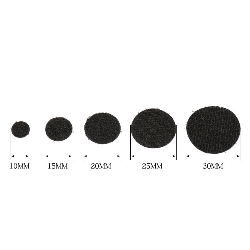 15mm 102 pairs Velcros Self Adhesive Fastener Tape Hook Loop Magic Tape Round Magic Sticker White Black Round Coins Strong Glue