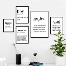 Motherampdad Life Quotes Nordic Poster Canvas Wall Picture Minimalist Art Prints Modular Painting Bedroom Home