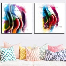 Handmade Modern Sexy Girl's Ass Oil Painting Decorative Colorful Raised Buttocks Hip On Canvas Bed Room Wall