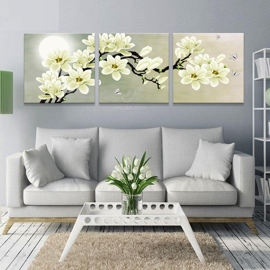 Canvas Painting Wall Living Salon Modular Pictures Kitchen Green Orchid Picture Prints Posters Room Art Print Flower