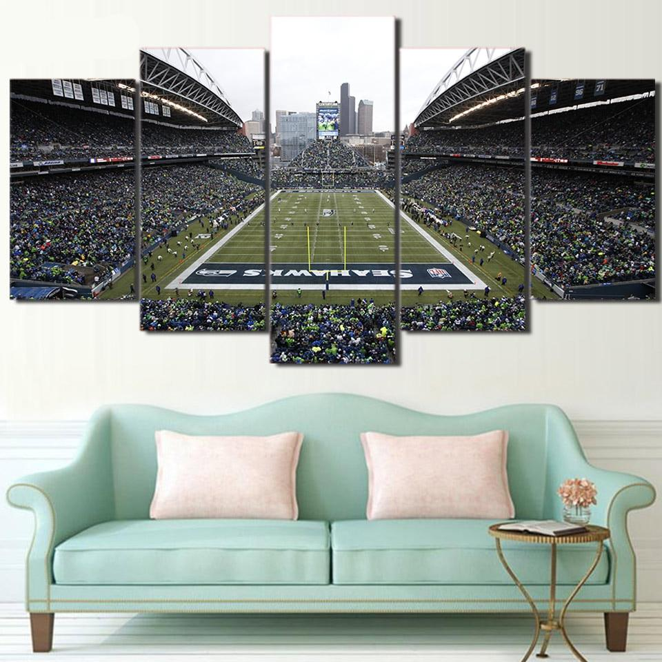 Hd Printed 5 Piece Canvas Art Football Game Wall Painting Pictures Living Room