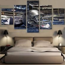 Hd Print 5 Piece Canvas Painting American Football Rugby Helmet Sport Wall Pictures Living Room Poster