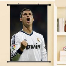 40x60cm Cristiano Ronaldo Footballer Football Men Star Wall Scroll Picture Mural Poster Art Cloth Canvas Painting