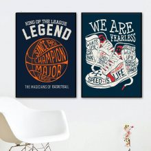 Hip Hop Basketball Sneaker Quotes Canvas Painting Wall Art Posters And Prints Nordic Poster Pictures Kids Room