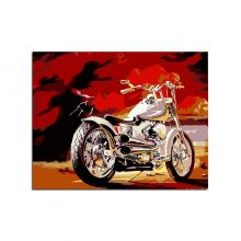 Motor Drawing By Hand Canvas Coloring Painting Numbers Unique Bedroom Wall Art