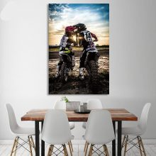 1 Piece Canvas Painting Motorcycle Cross Racer Love Hd Posters And Prints Wall Pictures Living Room