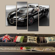 4panel Sport Car Motorcycle Modern Pictures Painting Canvas Print Wall Art Oil Picture Living Room Home Decoration Unframed