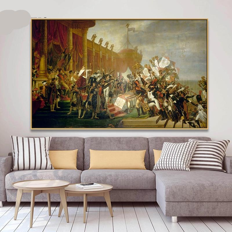 Louis David Army In The De To Posters And Prints Canvas Painting Wall Picture Home