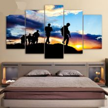 5 Piece Canvas Art Army Soldiers Painting Wall Posters And Prints Pictures Living Room