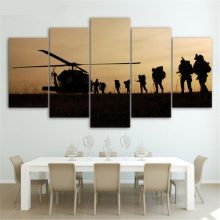 Army 5 Pieces Poster Oil Canvas Paintings Decoration Wall Art Office Pictures Living Room Home