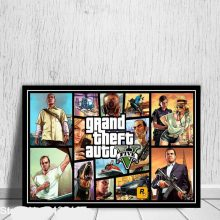 Grand Theft Auto V Poster Video Game Gta 5 Posters And Prints Canvas Painting Wall Art Decoration Living Room Home