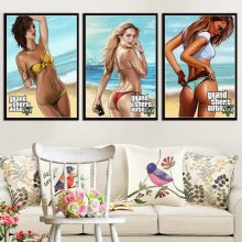Posters And Prints Grand Theft Auto V Game Gta 5 Sexy Character Kate Wall Art Picture Canvas Painting Room Home