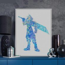 Watercolor Final Fantasy Pop Anime Game Movie Poster Nordic Kids Room Wall Art Print Picture Home Canvas Painting Custom