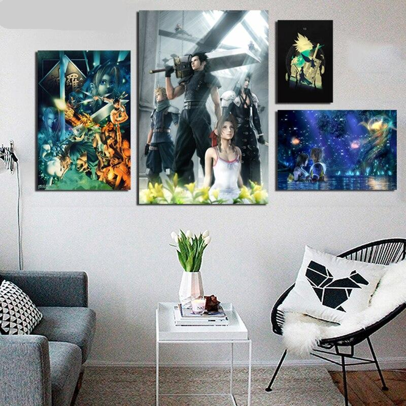 Core - Final Fantasy Vii Art Poster Canvas Painting Hd Pictures Living Room Bedroom Home