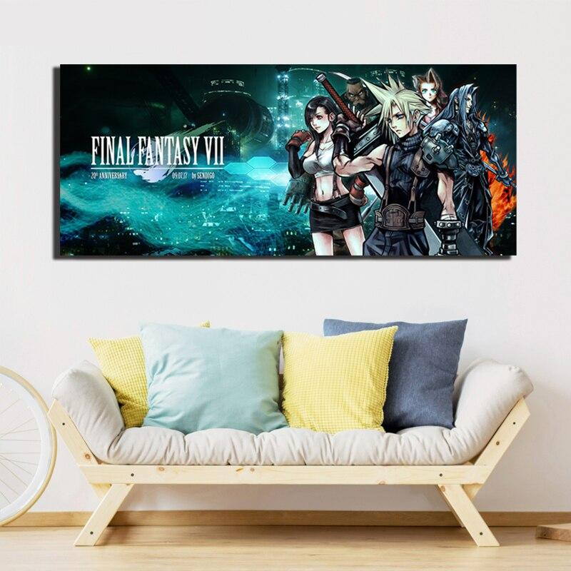 Final Fantasy Vii Modern Canvas Painting Print Oil Poster Wall Art Hd Picture Living Room Home