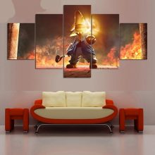 5 Pieces Final Fantasy Hd Wall Art Anime Canvas Painting Oil Print Cartoon Modern Poster Picture Bedroom Home