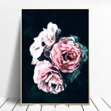 Black Pink Peony Nordic One Piece Poster Flowers Cuadros Picture Posters And Prints Wall Art Canvas Painting Pictures Unframed