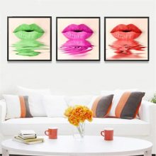 Sexy Colorful Lip Canvas Art Print Poster Painting Wall Picture Home Living Room No Frame