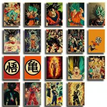 Japanese Anime Dragon Ball Poster Kraft Paper Printed Vintage Retro Posters Wall Art Painting Stickers