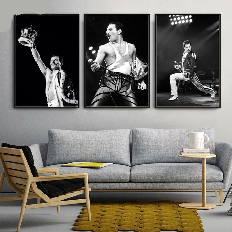 Freddie Musician Poster Bohemian Rhapsody Wall Art Picture Prints Canvas Painting Living Room Home Decoration